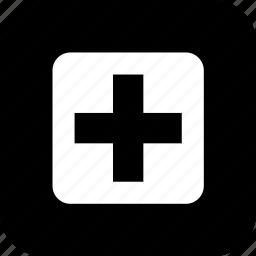 cross, er, healthcare, hospital, medecine, medical, sign icon