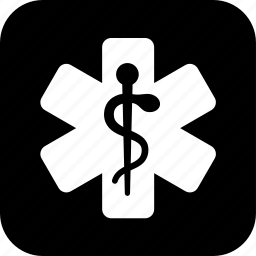 er, healthcare, hospital, medecine, medical, snake, star icon