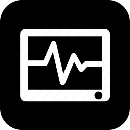 cardiogram, digital, healthcare, heart rate, medecine, medical, tablet icon