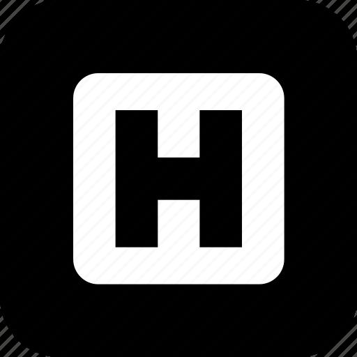 emergency room, healthcare, hospital, letter h, medecine, medical icon