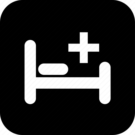healthcare, hospital bed, medecine, medical, medical cross, pillow icon