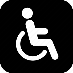 disability, handicap, healthcare, medecine, medical, stick figure, wheel chair icon