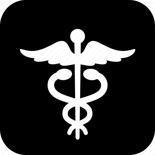 caduceus, healthcare, medecine, medical, snake, wings icon