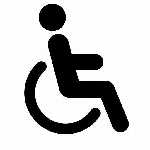 disability, disabled, handicap, healthcare, medecine, medical, wheelchair icon