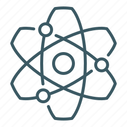 atom, nuclear, physics, science icon