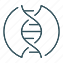 dna, genetics, helix, science icon