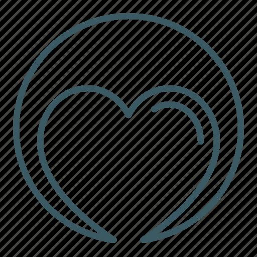 charity, health, heart, love icon