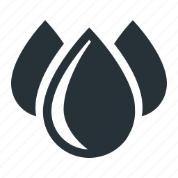 drops, industry, oil, petrol, water icon