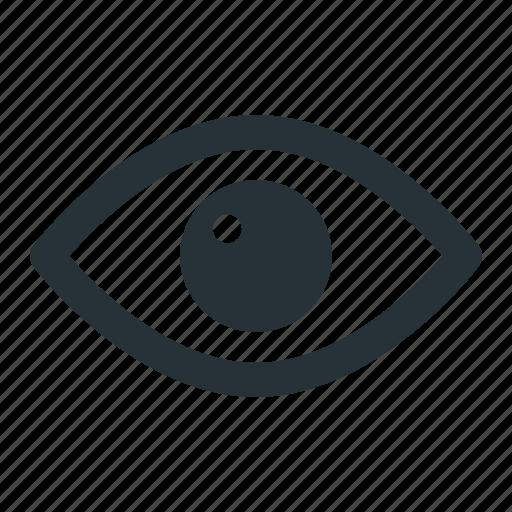 eye, head, human, look, see, view icon