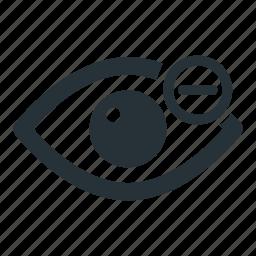 eye, look, minus, see, view icon