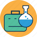 chemical, conical flask, erlenmeyer flask, flask, lab, laboratory experiment, laboratory portfolio icon