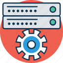 gear, server, server configuration, server configure, server settings, settings, technology icon
