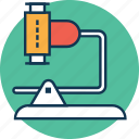 experiment, lab equipment, laboratory, microscope, optical microscope, research, science icon