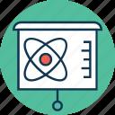business presentation, chalkboard, easel, easel board, graph presentation, presentation, whiteboard icon