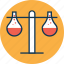 lab test, laboratory equipment, science, science equipment, science lab instruments, test tube, two test tubes icon
