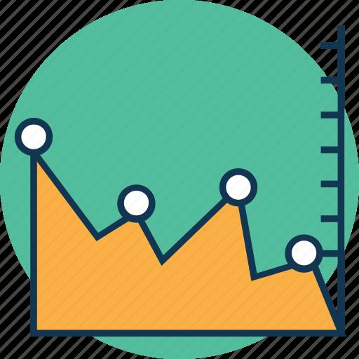 analytics, chart, data, diagram, draft, flowchart, flowsheet, graph, period timeline graph icon