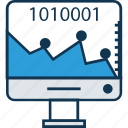 analytics, binary timeline chart, chart, data, diagram, draft, period timeline graph icon
