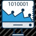 analytics, binary timeline chart, chart, data, diagram, draft, period timeline graph icon