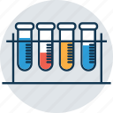 culture tube, lab experiment, lab research, lab test, laboratory, sample tube, test tube icon