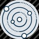 atom, molecular, molecule, molecule symbol, nucleus, orbit, proton icon