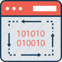 binary, binary code, code, computer language, dos, dos coding, language icon