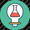 experiment idea, lab idea, lab test, laboratory equipment, science equipment, science lab instruments, test tube icon