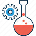 beaker laboratory experiment, chemical, conical flask, erlenmeyer flask, flask, lab, lab settings icon