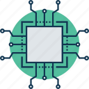 central processing unit, computer chip, integrated circuit, memory chip, microprocessor, motherboard, processor chip icon