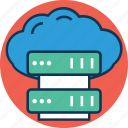 cloud computing, cloud server, computer network, data cloud, data storage, server rack, server share icon