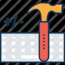 claw hammer, construction, hammer, hammer tool, nail fixer, nail hammer icon