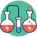 conical flask, erlenmeyer flask, flask, lab experiment, lab research, lab test, laboratory experiment icon