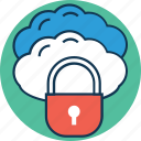 cloud with lock, icloud, icloud locked, lock cloud, onedrive, secure, secure cloud icon