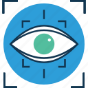 eye, focus, focus selector, look, medical, retina, view, vision icon