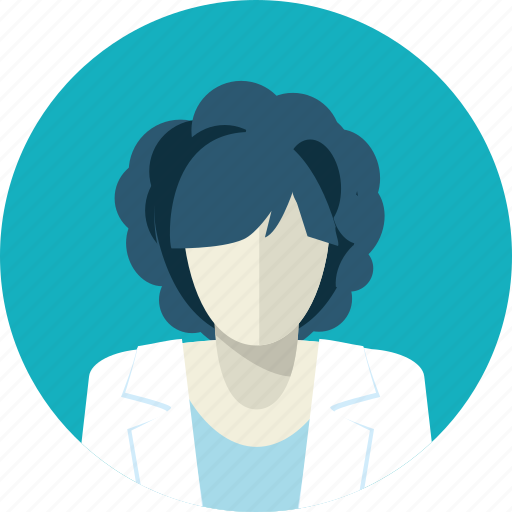 avatar, doctor, flat design, hospital, medicine, people, woman icon