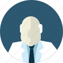 avatar, doctor, flat design, man, medicine, people, professor icon