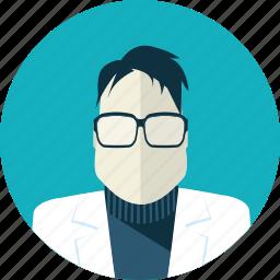 avatar, doctor, falt design, man, medicine, people, psychiatrist icon