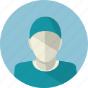 avatar, doctor, flat design, man, medicine, people, surgeon icon