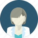 avatar, doctor, flat design, medicine, people, woman, young icon