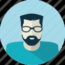 avatar, glasses, man, medicine, people, technician icon