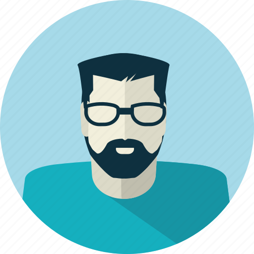 avatar, flat design, glasses, man, medicine, people, technician icon