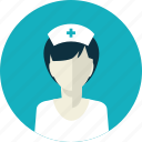avatar, female, flat design, medicine, nurse, people, woman icon