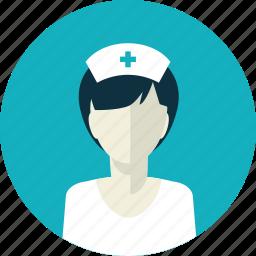 avatar, female, flat design, medicine, nurse, people, woman icon