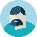 avatar, beard, doctor, flat design, man, medicine, people icon