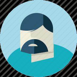 avatar, beard, doctor, flat design, man, medicine, people icon