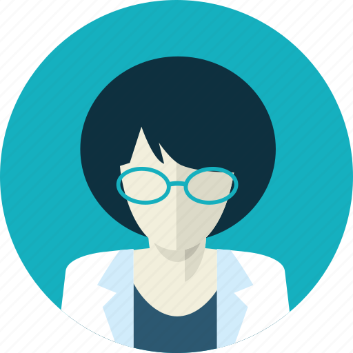 avatar, doctor, female, flat design, medicine, people, woman icon