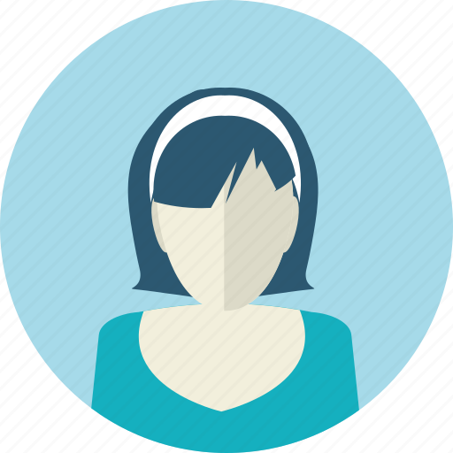 avatar, female, flat design, medicine, people, woman, young icon