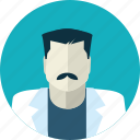 avatar, doctor, flat design, health, man, medicine, people icon