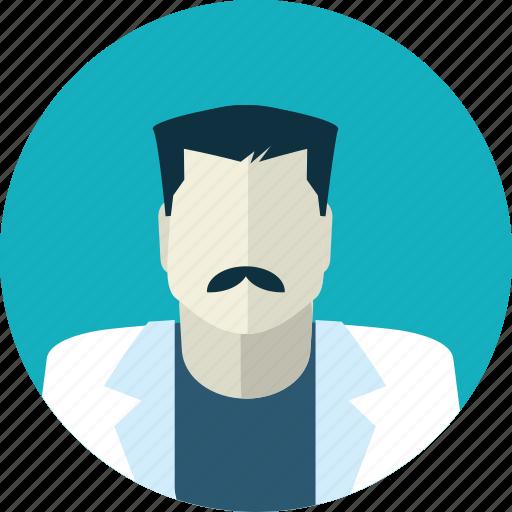 avatar, doctor, flat design, health, man, medicine, people icon