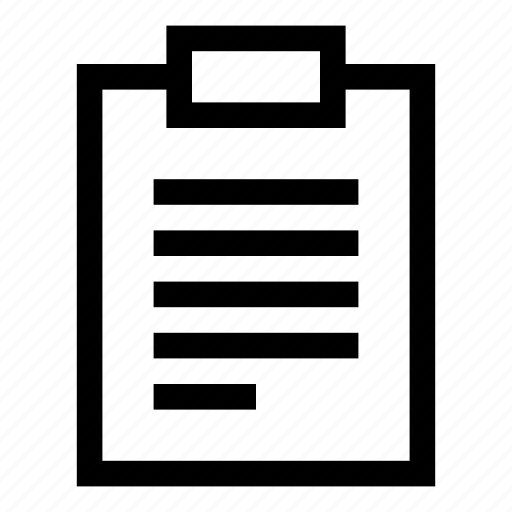 description, medical, report, text icon