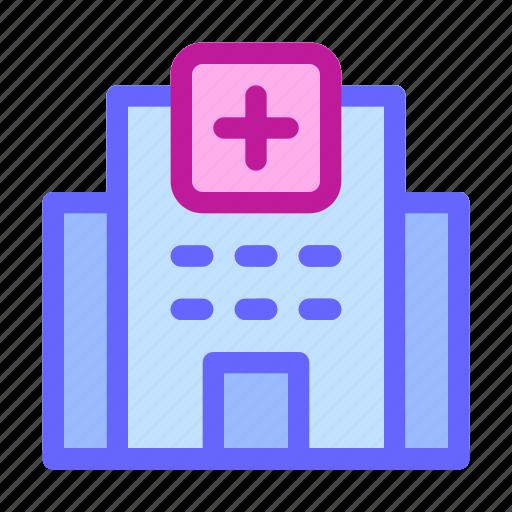 building, clinic, healing, health, hospital, medical, treatment icon